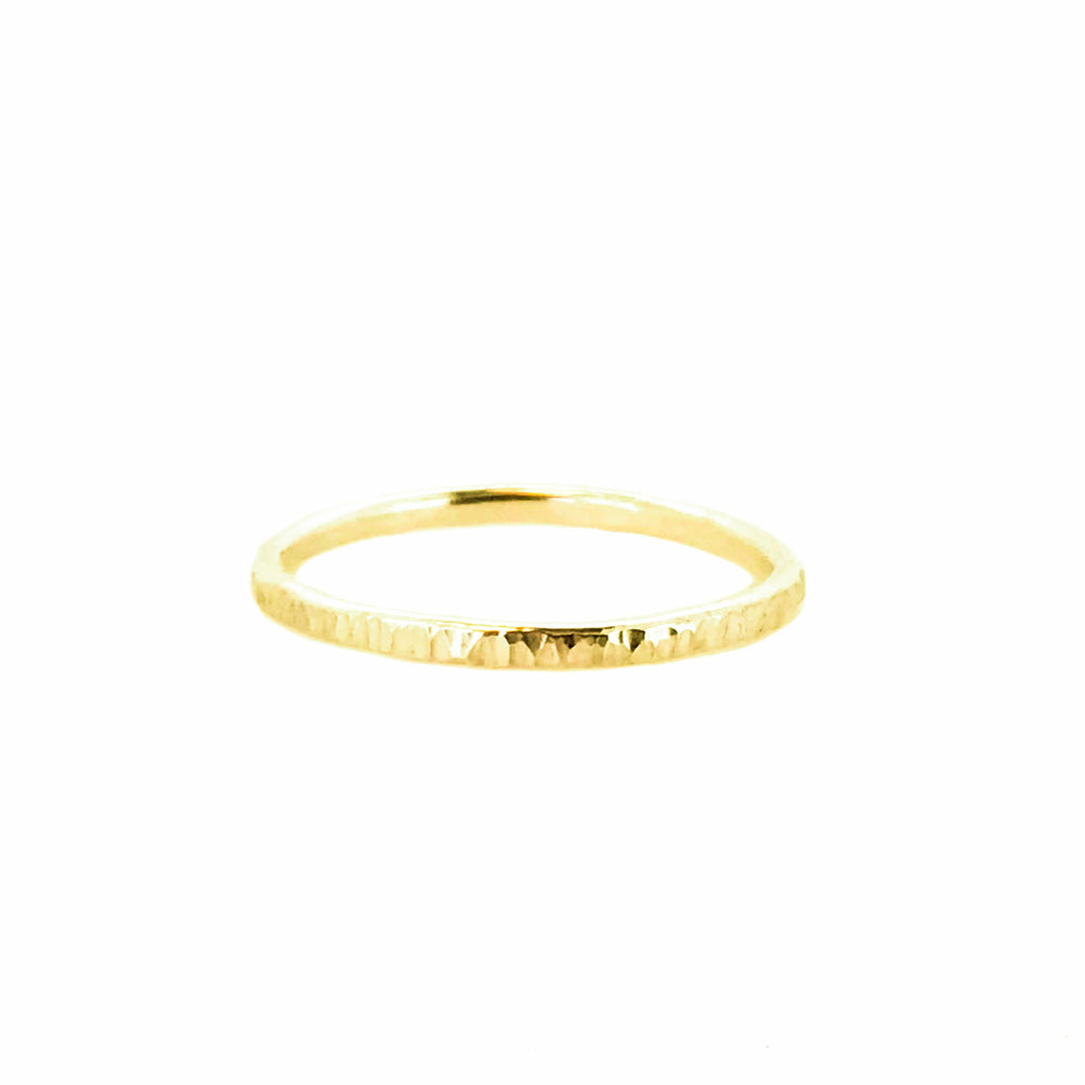 Hammered Stacking Ring | 18ct Rose Gold