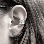 Hammered Ear Cuff - Stockholm Rose Designs - Eco Friendly Jewellery