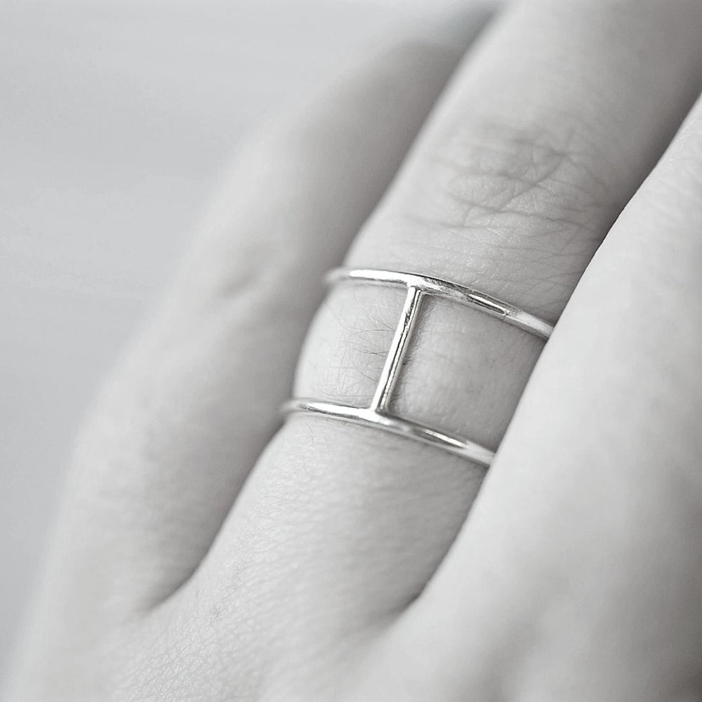 Double Ring (Silver and Gold) - Stockholm Rose Designs - Eco Friendly Jewellery