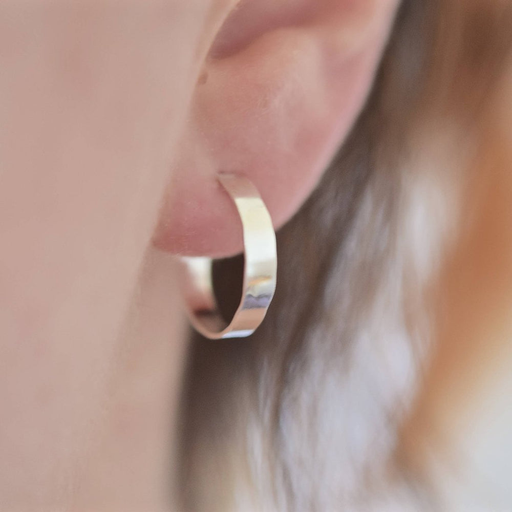 Wide Hoop Earrings - Stockholm Rose Designs - Eco Friendly Jewellery