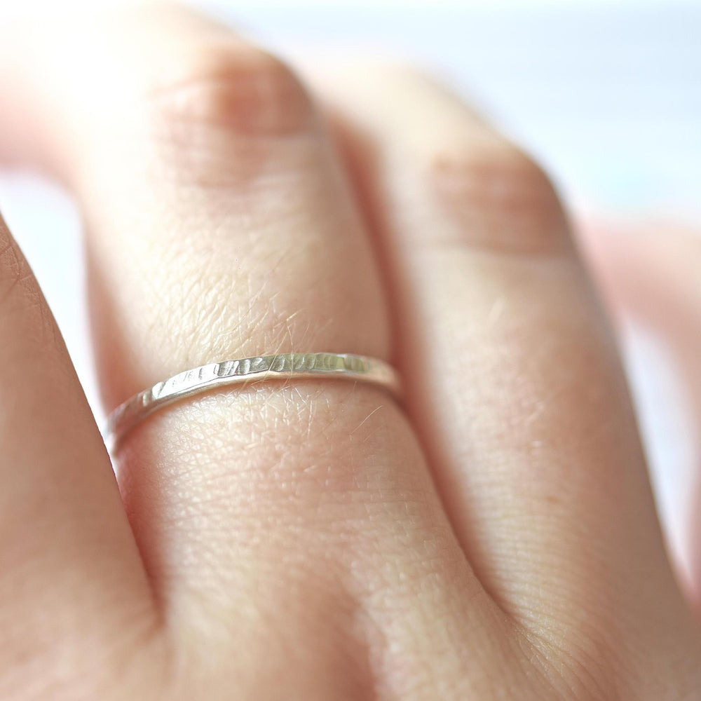 Hammered Stacking Ring - Stockholm Rose Designs - Eco Friendly Jewellery