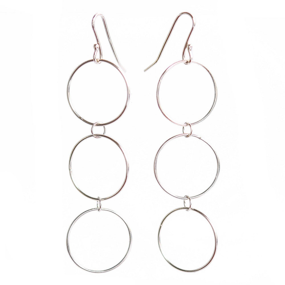 Dangly Hoop Earrings - Stockholm Rose Designs - Eco Friendly Jewellery