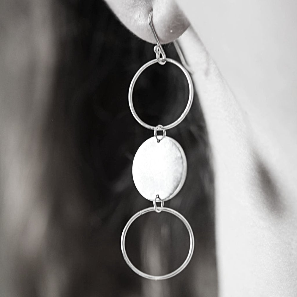 Dangly Circle Earrings - Stockholm Rose Designs - Eco Friendly Jewellery