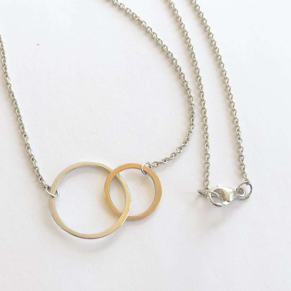 Linked Circle Necklace - Stockholm Rose Designs - Eco Friendly Jewellery