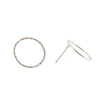 Hammered Circle Studs | Sterling Silver