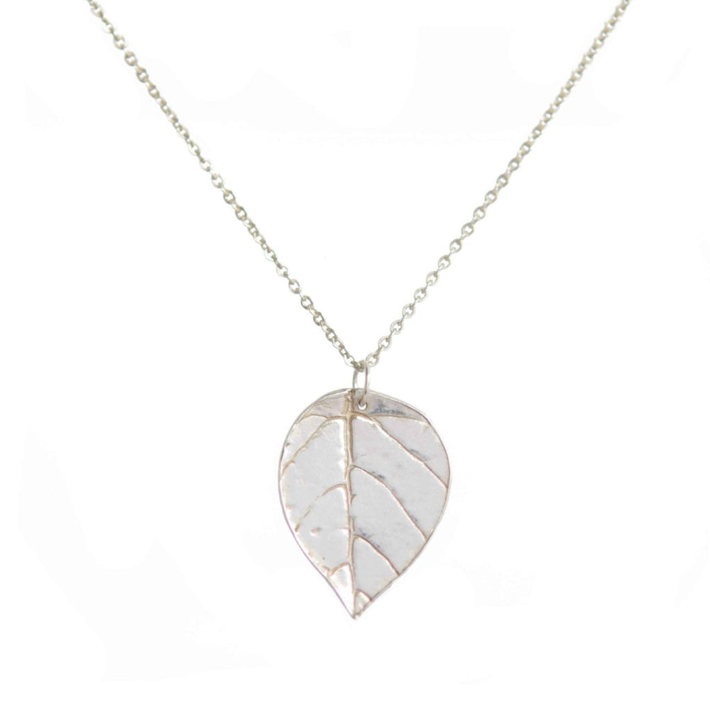 Imprinted Leaf Necklace