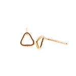 Outline Triangle Stud Earrings | 18ct Rose Gold
