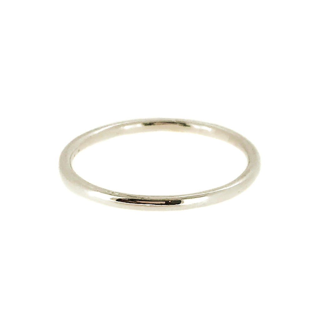 Round Band | 18ct White Gold