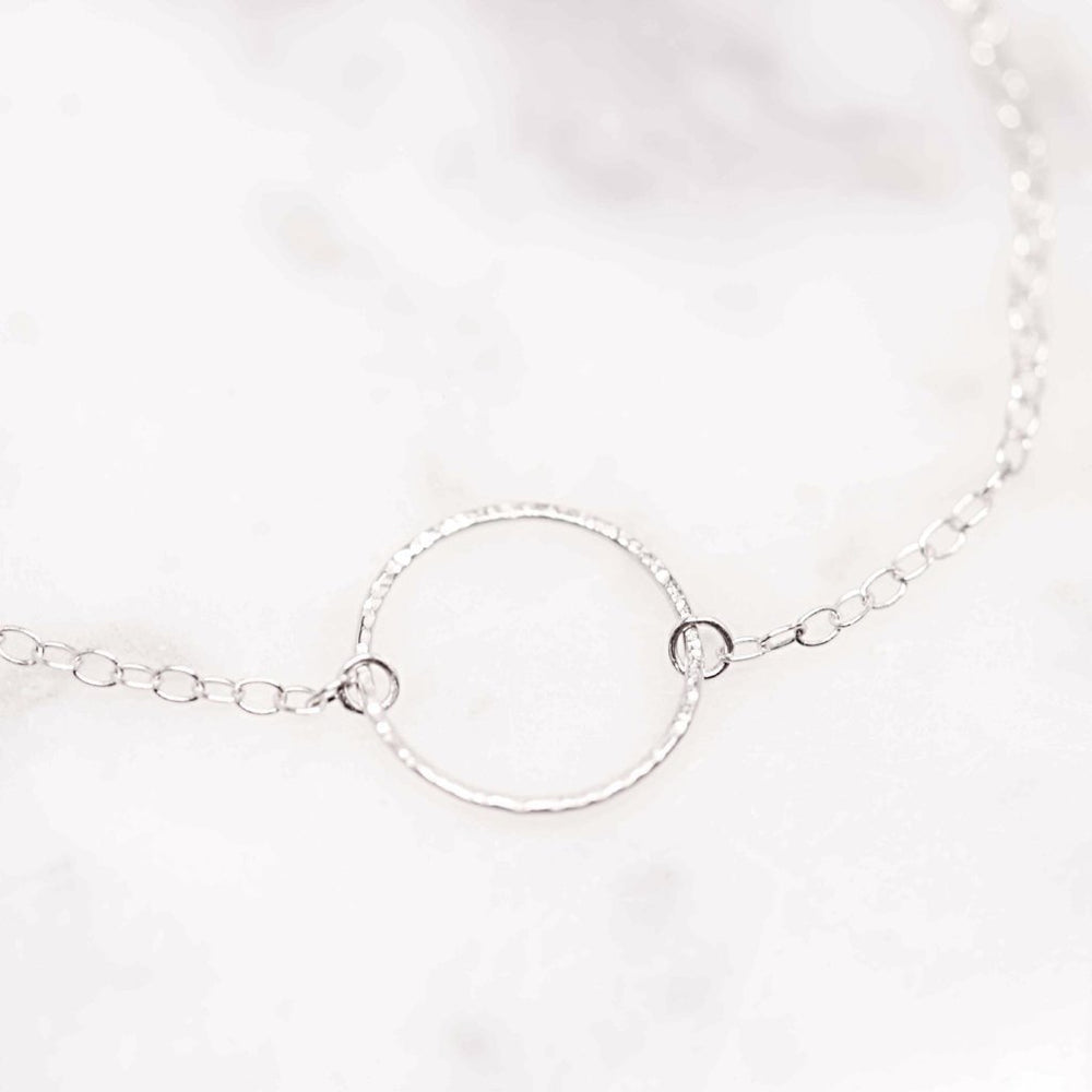 Dainty Circle Necklace - Stockholm Rose Designs - Eco Friendly Jewellery
