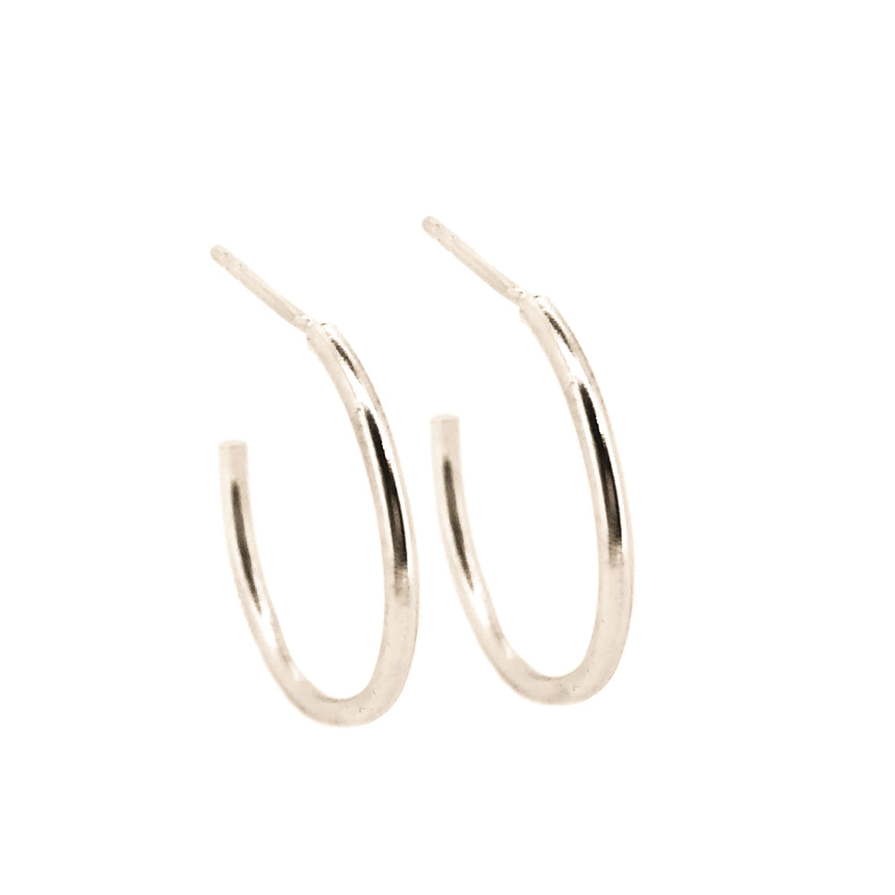 Simple Hoop Earrings | Sterling Silver