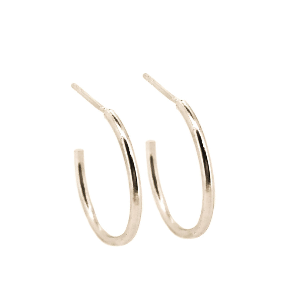 Simple Hoop Earrings | 18ct White Gold