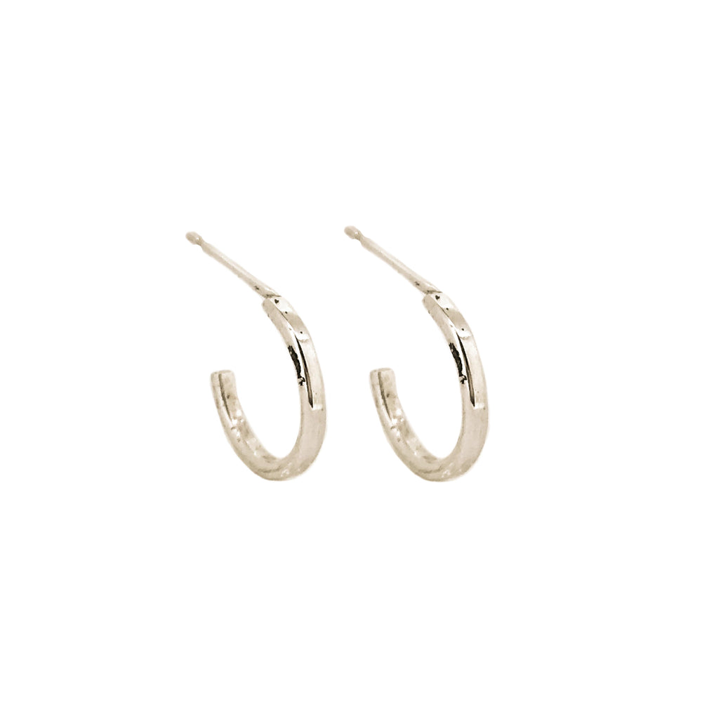 Tiny Hoop Earrings | Sterling Silver