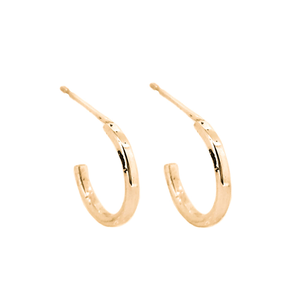 Tiny Hoop Earrings | 18ct Rose Gold