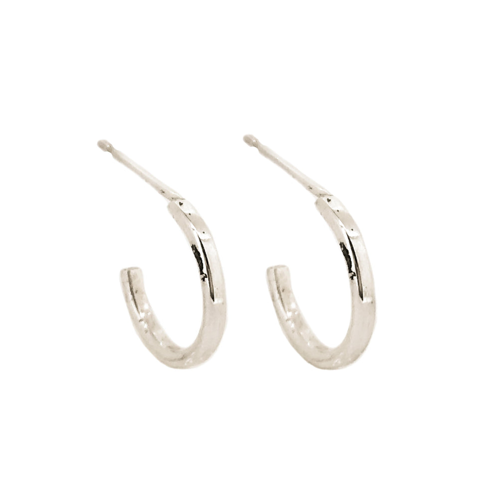 Tiny Hoop Earrings | 18ct White Gold