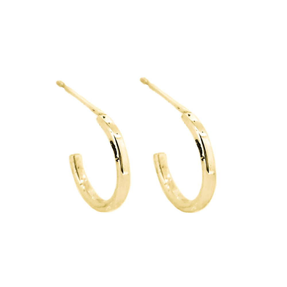 Tiny Hoop Earrings | 18ct Yellow Gold