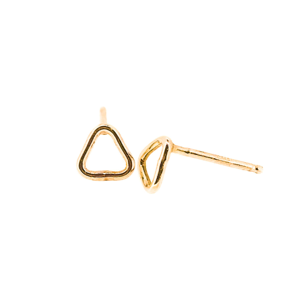 Outline Triangle Stud Earrings