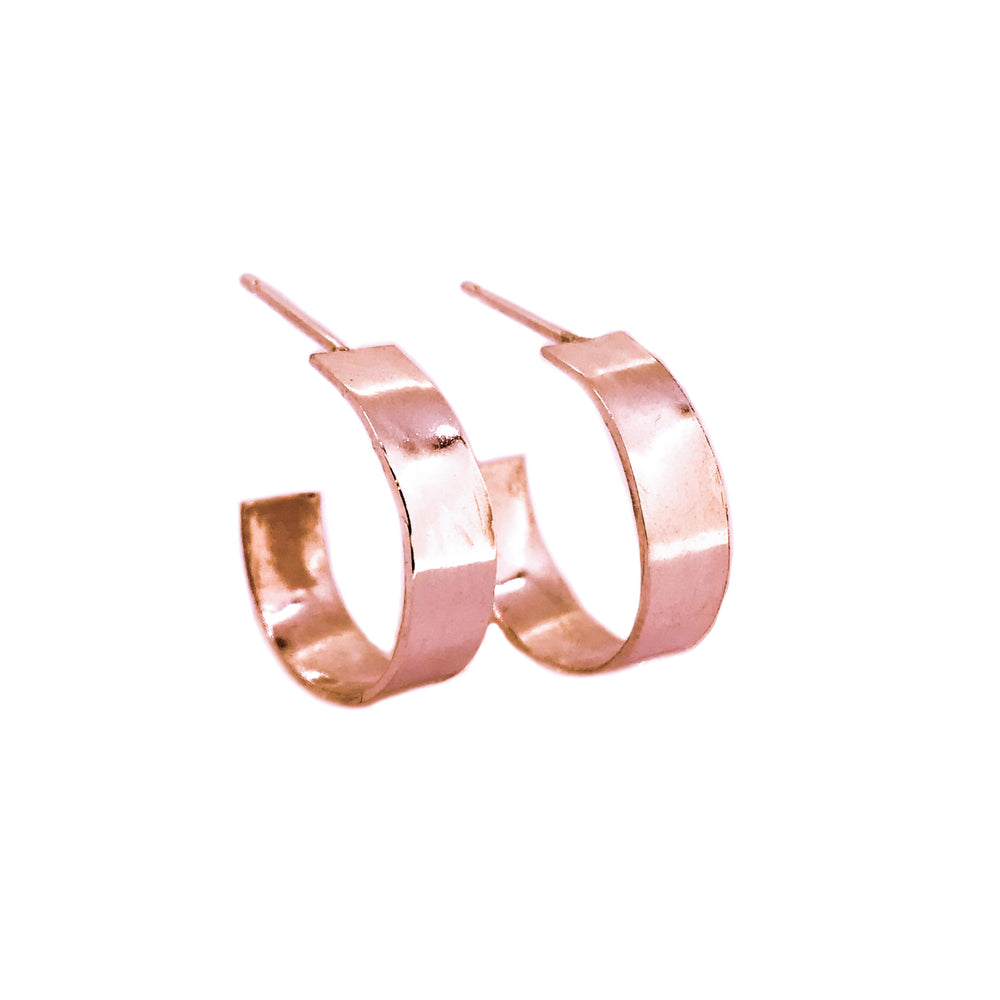 Wide Hoop Earrings