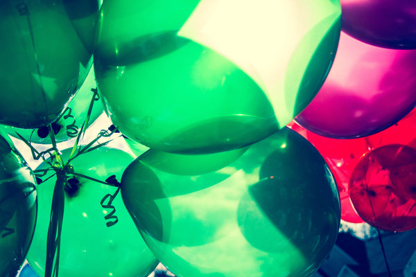 balloons green festive celebrate celebration