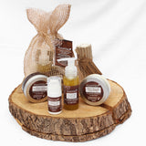Planted all natural skincare gift set display