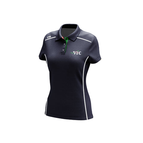 Women's Team Vic Navy Polo (Walk Out)