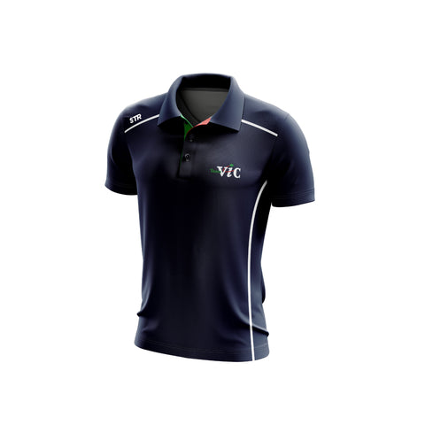 Men's Team Vic Navy Polo (Walk Out)