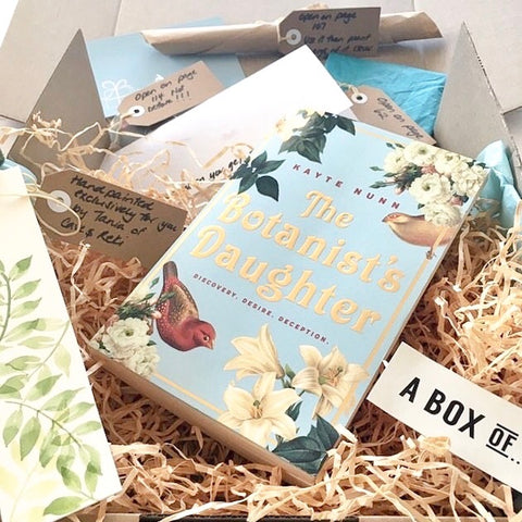 A Box of Bookclub The Botanist's Daughter Book Box