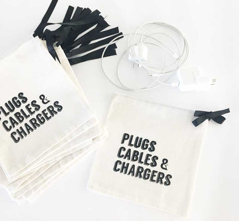 Plugs, Cables & Chargers Travel Bag