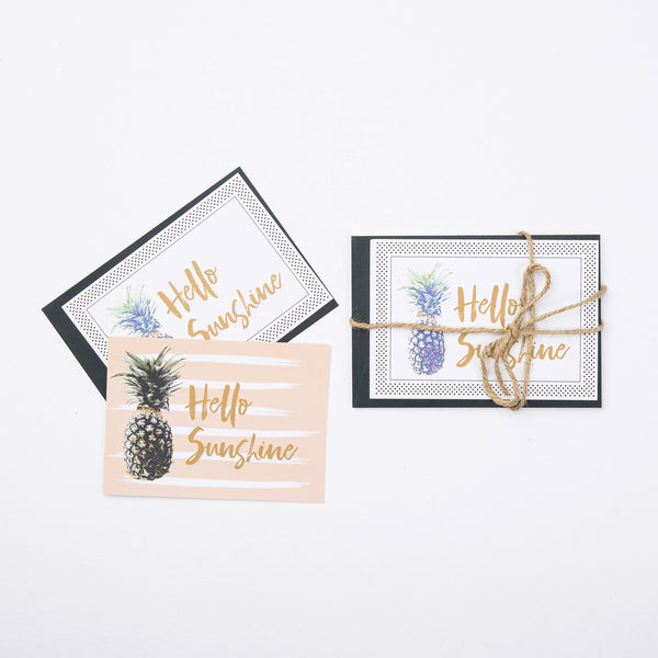 Stationery - 6 x Hello Sunshine Friendship Cards