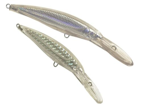 5  deep diving unpainted double crankbaits