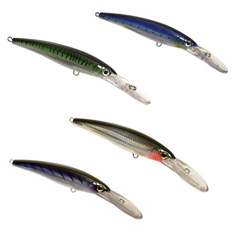 Set of Three (3) OEM X-Rap Magnum Type Trolling Lures - 5 Sizes & 4 Colors
