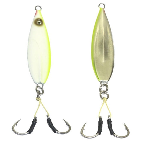 100 #8//0 Double Assist Hooks with 300# Spectra for Flat Fall Jigs /& All Keel Jig