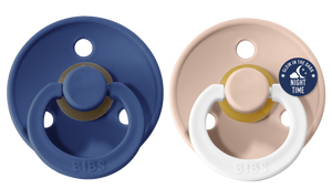 *NEW* Bibs Pacifier Size 2 - Toddler 6-18M (2pcs) - Midnight/Blush Night