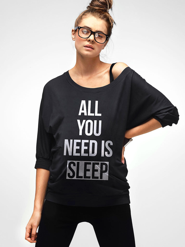 *NEW* Mamagama All you need is sleep Maternity Top