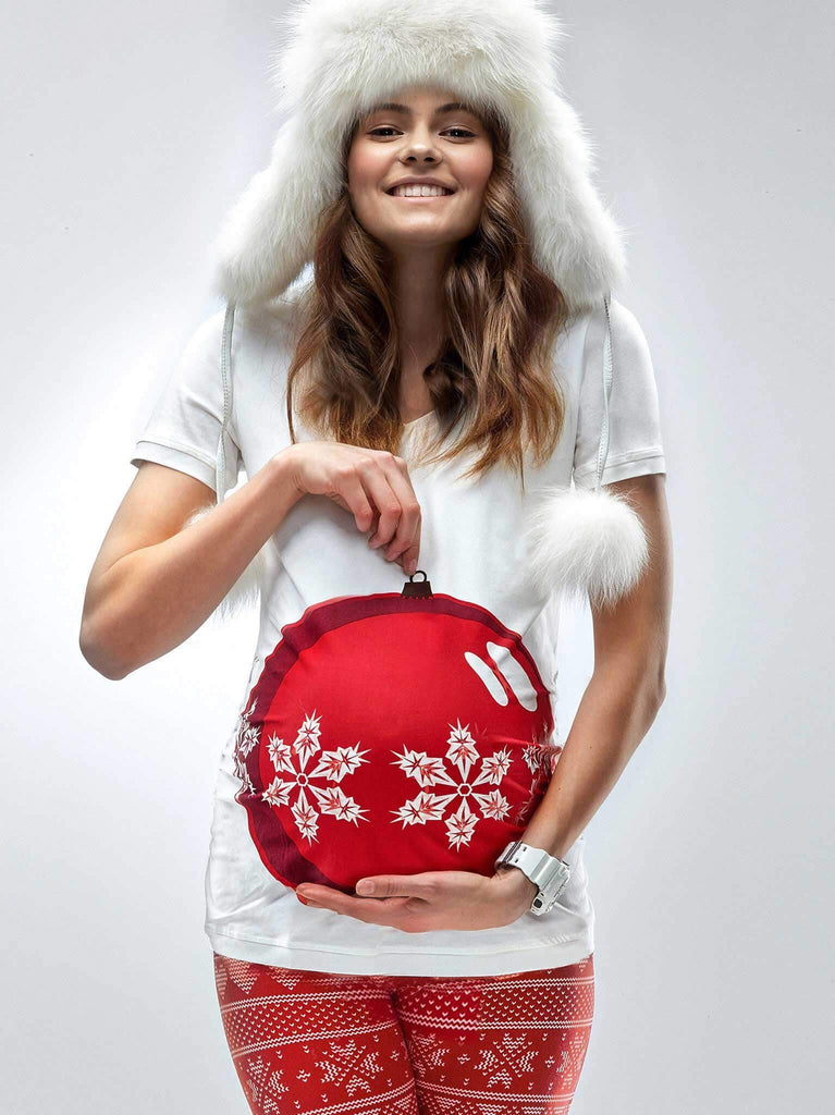 *NEW* Mamagama My Bauble Bump Maternity Christmas T-shirt