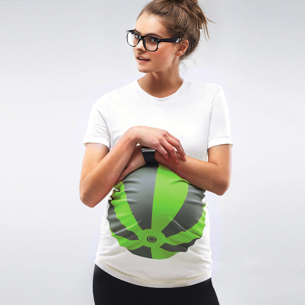 *NEW* Mamagama Green Beachball Maternity T-shirt