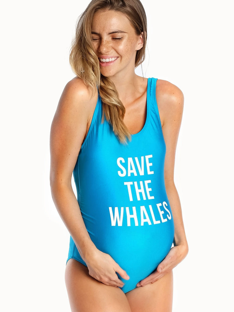 *NEW* Mamagama Save the Whales Maternity Swimwear