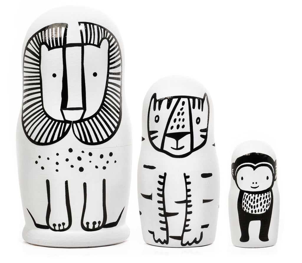 *NEW* Set of 3 Nesting Dolls - Wild Animals