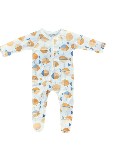 *NEW* Olen Organic Footed Pajama - Meri Print