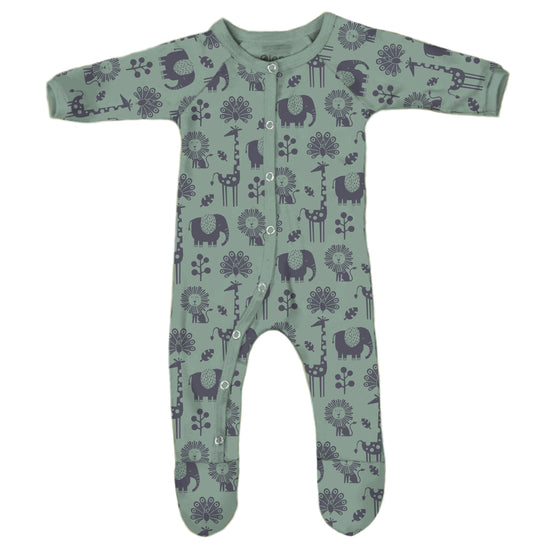 *NEW* Piha Footed Pajama - Tea Green