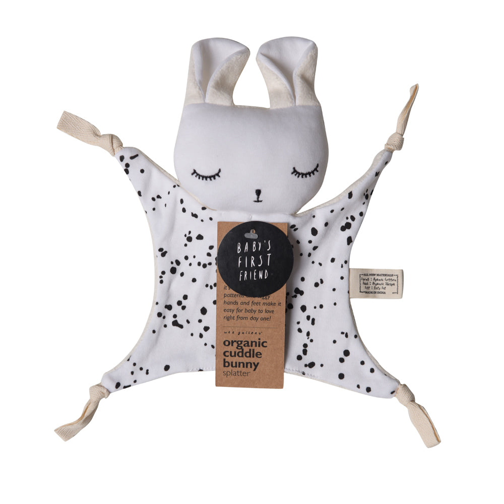 *NEW* Wee Gallery Cuddle Bunny - Splatter - Organic Cotton