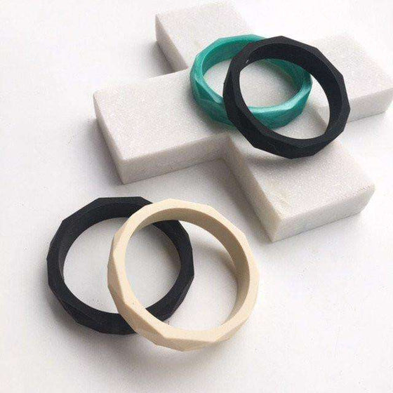 Geo Teething Bangle