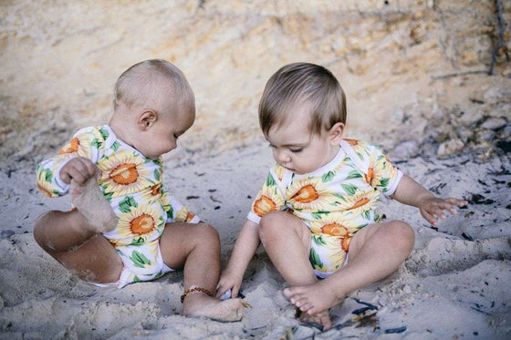 Sunflower Short Sleeve Baby Suit