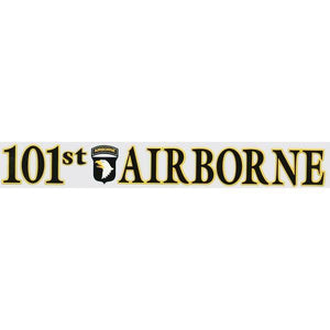 "101st Airborne with Logo 14.5"" x 2"" Window Strip"
