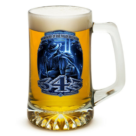 343 Firefighter 9/11 Memorial Beer Tankard-Military Republic