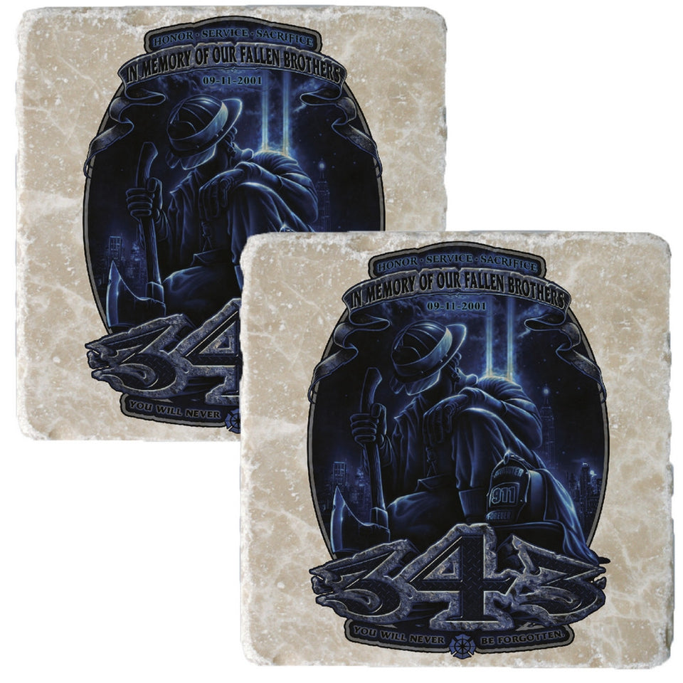 343 In Memory Of Our Fallen Brothers Coaster-Military Republic