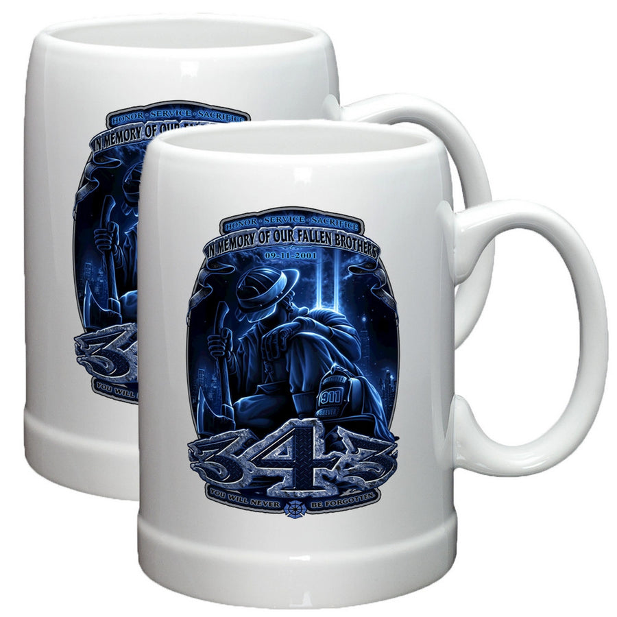 343 In Memory Of Our Fallen Brothers Stoneware Mug Set-Military Republic