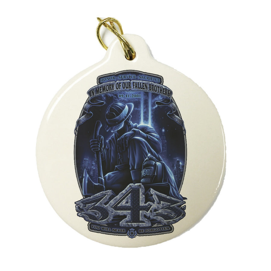 343 Memory Of Our Fallen Brothers Christmas Ornament-Military Republic