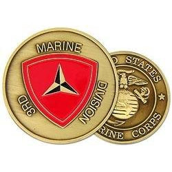 3rd Marine Division Challenge Coin (38MM inch)