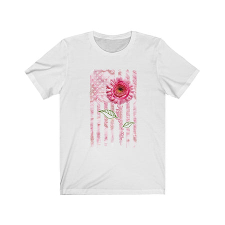 Hope for a Cure for Cancer American Pink Flag T-shirt