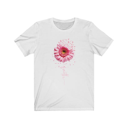 Pink Ribbon Daisy Faith - Breast Cancer Awareness T-Shirt